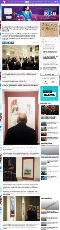 1501 - telegraf.rs - Svetski filmski simbol humora,izlozba crteza Federika Felinija otvorena u Jugoslovenskoj kinoteci