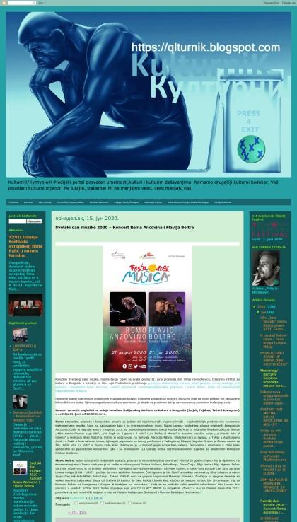 1506 - qlturnik.blogspot.com - Svetski dan muzike 2020 Koncert Rema Ancovina i Flavija Boltra