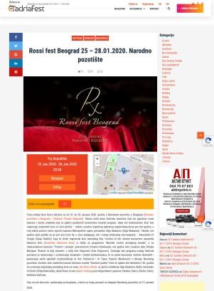 1901 - adriafest.com - Rossi fest Beograd 25 - 28.01.2020