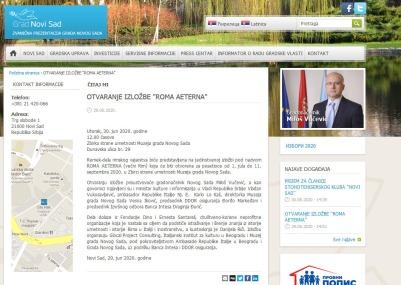 2906 - novisad.rs - Otvaranje izlozbe Roma Aeterna