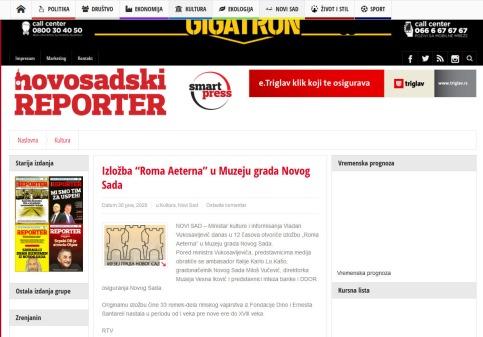 3006 - nsreporter.rs - Izlozba Roma Aeterna u Muzeju grada Novog Sada