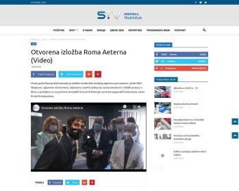 3006 - sremska.tv - Otvorena izložba Roma Aeterna