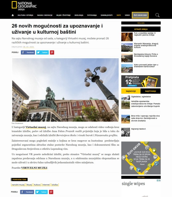 0804 - nationalgeographic.rs - 26 novih mogucnosti za upoznavanje i uzivanje u kulturnoj bastini