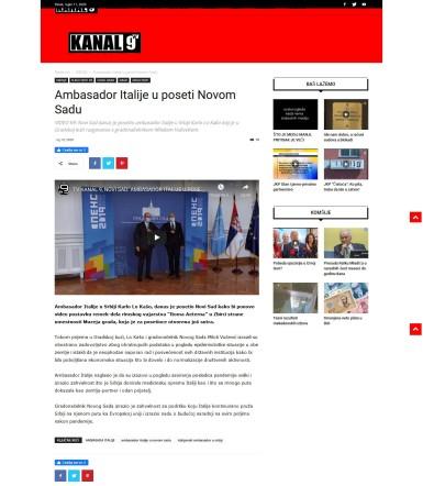 1009 - kanal9tv.com - Ambasador Italije u poseti Novom Sadu