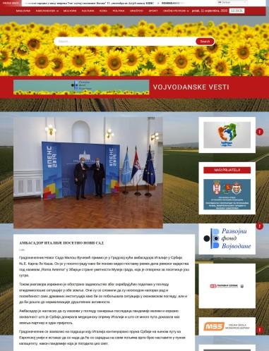 1009 - vojvodjanskevesti.rs - Аmbasador italiji posetio novi sad